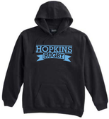 Hopkins Men's Rugby Hoodie, Black