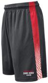 Dark Horse 7s Gym Shorts, Graphite/Red/White
