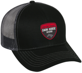 Dark Horse 7s Mesh-Back Adjustable Hat, Black/Charcoal