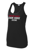 Chicago Dark Horse 7's Ladies-Cut Racerback Tank, Black