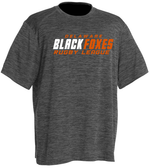 Black Foxes Performance Tee, Heather Black
