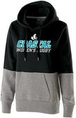 Coastal Carolina WRFC Ladies-Cut Hoodie, Black/Gray