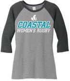 Coastal Carolina WRFC 3/4-Sleeve Tee, Gray/Black