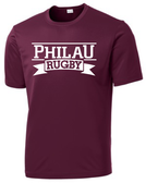 PhilaU Performance Tee, Maroon