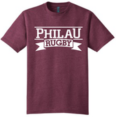 PhilaU Triblend Tee, Maroon Heather