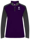 Scranton Women's Rugby 1/4-Zip Pullover, Purple/Graphite