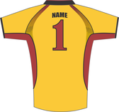 "'Name"" and ""1"" used to show placement and style.  Your name and/or number entries (if desired) are used for production."