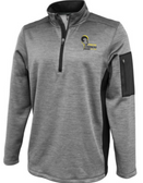 Syracuse Chargers 1/4-Zip Performance Fleece, Silver