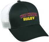 West Chester Mesh-Back Adjustable Hat, Black/White