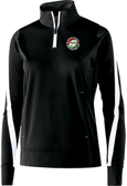 Thorns 1/4-Zip PolyStretch Pullover, Black