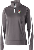 Thorns 1/4-Zip PolyStretch Pullover, Gray