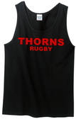 Thorns Rugby Tank Top, Black
