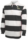 Syracuse Chargers Stripe Polo, Black/White