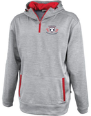 EPRRS 1/4-Zip Performance Fleece Hoodie, Silver/Red