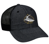 Shark Rugby Mesh-Back Adjustable Hat, Black/Black