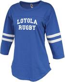 Loyola Dons Rugby Ladies-Cut Twin Stripe Tee
