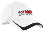 Potomac Referees Adjustable Hat, White/Black
