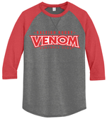 Raleigh Venom 3/4-Sleeve Tee, Coal/Red