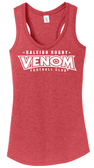 Raleigh Venom Ladies-Cut Racerback Tank, Heathered Red
