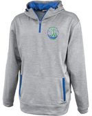 Grunion Rugby 1/4-Zip Performance Fleece Hoodie, Silver/Royal