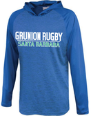 Grunion Rugby Hooded LS Performance Tee, Royal