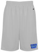 Grunion Rugby Gym Shorts, Silver Gray