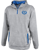 Spokane WRFC 1/4-Zip Performance Fleece Hoodie, Silver/Royal