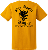 Old Gaelic Rugby Tee, Gold