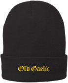 Old Gaelic Rugby Fleece Lined Beanie, Black