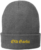 Old Gaelic Rugby Fleece Lined Beanie, Gray