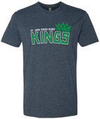 Fisher Kings Crew Neck Tee, Navy