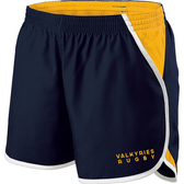 Southern MD Valkyries Ladies-Cut Gym Short, Navy/Gold/White