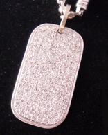 5 1/2 Carat Pave Diamond Dog-Tag Necklace Pendant