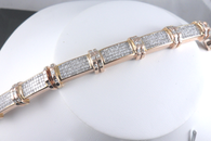 11 1/3 Carat Princess Cut Diamond Bracelet, in 14k Rose Gold