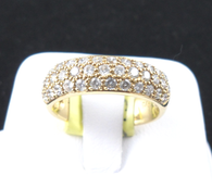 1 Carat Micro Pave Diamond Band Ring, in 18k Yellow Gold