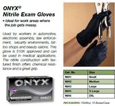 N645ONYX   Textured Ntrile Exam BLACK Powder free 5 mil 2XLARGE