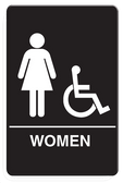 IS1004-16 Restroom Signs Palmer Fixture