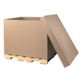 "S-4684 Bulk Cargo Containers|49 x 41 x 5"" Lid 275#  44 ECT 5 bdl  250 bale - fits 48 x 40 x 36 Gaylords