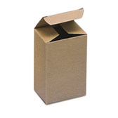 "BSRTS37 Kraft Reverse Tuck Folding Cartons 1 1/2 x 1 1/2 x 3"" K"