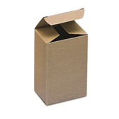 "BSRTS22 Kraft Reverse Tuck Folding Cartons 3 x 3 x 6"" Kraft Rev"