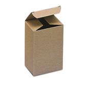 BSRTS87 Kraft Reverse Tuck Folding Cartons 3 1/2 x 2 1/2 x 6 3/