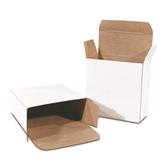 "BSRTD37W White Reverse Tuck Folding Cartons 1 1/2 x 1 1/2 x 3"" W"
