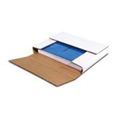 "BSM1184MD White Multi-Depth Corrugated Bookfolds 11 1/8 x 8 3/4 x 4"""