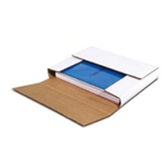 "BSM12122BF White Multi-Depth Corrugated Bookfolds 12 1/2 x 12 1/2 x 2"""