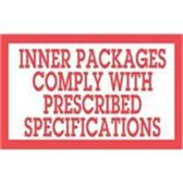 """LABDL1810 Special Handling Labels #DL1810 3 x 5"""" Inner"""