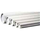 """P2009W White Mailing Tubes 2 x 6"""" White Tube (5"""