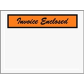 "Invoice Enclosed Envelopes ENVPQ3 4 1/2 x 6"" Panel Fac"