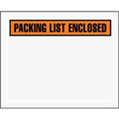 "Packing List Enclosed Envelopes ENVPQ12 4 1/2 x 5 1/2"" Panel"