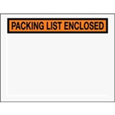 "Packing List Enclosed Envelopes ENVPQ25 6 1/2 x 5 "" Panel Fa"