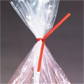 "PBT8R Paper Twist Ties 8"" x 3/16"" Red Paper"